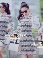 Seoul Secret Say's... Stylishness Laver Lace Belly Dress