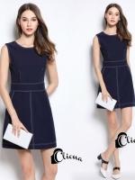 เสื้อผ้าแฟชั่นเกาหลี Cliona made ,Early Autumn Luxury Denim Dress