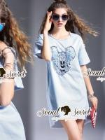 เสื้อผ้าแฟชั่นเกาหลี Seoul Secret Say's... Chic Chic Gene Micky Dress