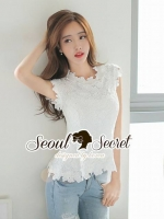 Seoul Secret Say's... Korea Lace Blouse