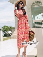 เสื้อผ้าแฟชั่นเกาหลี Lady Ribbon Thailand Seoul Secret Say's... Dolce & Gabby Eypzy Maxi Dress Print