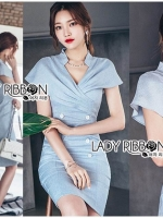 🎀 Lady Ribbon's Made 🎀 Lady Sara Smart Elegant Double-Breasted Dress