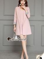 Seoul Secret Say's... Chic Coral Pink Cami Suite Set