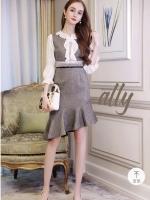 เสื้อผ้าแฟชั่นเกาหลี Lady Ribbon Thailand Normal Ally Boutique new collection dress