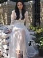 เสื้อผ้าแฟชั่นเกาหลี Bella Dona Luxury White Lace Dress