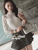 Seoul Secret Say's... Ivory Daisy Lace Blouse