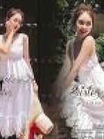 เสื้อผ้าแฟชั่นเกาหลี 2Sister made, White Cuties Romance Lady Set