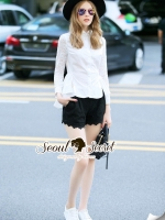Seoul Secret Say's... Korea Pleaty Tailing Blouse