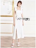 🎀 Lady Ribbon's Made 🎀 Lady Sara Smart Feminine Ruffle Double-Breasted Dress