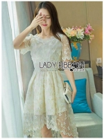 🎀 Lady Ribbon's Made 🎀 Lady Suzie Sweet Vintage Asymmetric Lace Dress