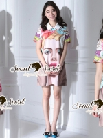 Seoul Secret Say's... Lariousl Color Girly Face Dress