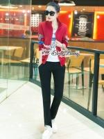 เสื้อผ้าแฟชั่นเกาหลี Sweet Bunny Present... Butterfly Jacket Warm 3 Pieces Set
