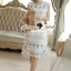 Lady Ribbon Korea Brand SS04300516 Seoul Secret Say's... Classy Flora Lace Dress thumbnail 3