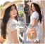 Lady Ribbon's Made &#x1F380 Lady Elizabeth Sweet Feminine Layered Mini Lace Dress in White thumbnail 3