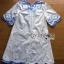 Lady Ribbon Korea Mini Dress LR14270616 &#x1F380 Lady Ribbon's Made &#x1F380 Lady Rachel Summery Classic Blue and White Embroidered Dress thumbnail 4