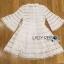 Lady Ribbon Korea Mini Dress LR19130616 &#x1F380 Lady Ribbon's Made &#x1F380 Lady Jessica Sweet and Pretty Embroidered Striped Mini White Dress thumbnail 5