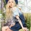 Lady Ribbon เสื้อผ้าเกาหลี LR10110716 &#x1F380 Lady Ribbon's Made &#x1F380 Lady Marina Cut-Out Pearl Embroidered Ombre Denim Dress เดรสผ้าเดนิม thumbnail 3