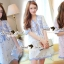 Lady Ribbon Korea Brand SS14300416 Seoul Secret Say's .... Dotty Dotty Pastel Blue Curvly Dress thumbnail 1