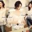 Lady Ribbon Korea SS02060616 Seoul Secret Say's... Lightly Cream Knitty Blouse thumbnail 1