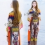 Lady Ribbon Sevy SV05290516 &#x1F389Sevy Traditional Thai Style Bohemian Chilaxing Maxi Dress thumbnail 4