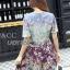 Mixed Printed Chiffon Lady Ribbon Dress thumbnail 3