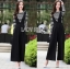 Black Overall Lady Ribbon jumpsuit thumbnail 3