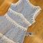 Lady Ribbon เสื้อผ้าเกาหลี LR01110716 &#x1F380 Lady Ribbon's Made &#x1F380 Lady Ariana Sweet Feminine White and Blue Lace Dress เดรสผ้าลูกไม้ thumbnail 4