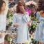 Lady Ribbon Korea LR11230516 &#x1F380 Lady Ribbon's Made &#x1F380 Lady Mila Sweet Minimal Back-Ribbon Baby Blue Dres thumbnail 1