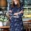 Brand Cliona made'Chanel Floral Line Denim Luxury Dress - long dress ผ้าdenim thumbnail 1