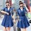 Brand Sevy Smart Casual A Line Denim Mini Dress thumbnail 1