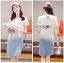 Lady Ribbon Korea Denim Dress Korea LR18300616 &#x1F380 Lady Ribbon's Made &#x1F380 Lady Tamara Street Chic Sequin Embroidered Jersey and Denim Dress thumbnail 1