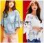 Lady Ribbon Korea Closet Design LR15130616 &#x1F380 Lady Ribbon's Made &#x1F380 Lady Sophia Feminine Closet Cropped Top Design เ thumbnail 1