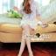 Lady Ribbon Korea Brand SS14300416 Seoul Secret Say's .... Dotty Dotty Pastel Blue Curvly Dress thumbnail 3