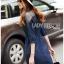 Lady Ribbon Korea Dress LR10060616 &#x1F380 Lady Ribbon's Made &#x1F380 Lady Natalie Minimal Chic Crystal Embroidered Organza and Denim Cotton Shirt Dress thumbnail 3