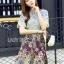 Mixed Printed Chiffon Lady Ribbon Dress thumbnail 2
