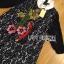 Lady Ribbon Korea LR07230516 &#x1F380 Lady Ribbon's Made &#x1F380 Lady Dakota Preppy Sweet Flower Sequin Embroidered navy Lace Dress thumbnail 5