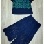 Lady Ribbon Korea Closet SB 05300516 Sweet Bunny Present... Leaves Blue Lace Wide Pants Set thumbnail 6