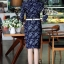 Brand Cliona made'Chanel Floral Line Denim Luxury Dress - long dress ผ้าdenim thumbnail 2