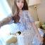 Lady Ribbon Korea Brand SS14300416 Seoul Secret Say's .... Dotty Dotty Pastel Blue Curvly Dress thumbnail 2