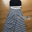 Lady Ribbon Korea Dress Korea Closet LR04300616 &#x1F380 Lady Ribbon's Made &#x1F380 Lady Celina Minimal Chic Cropped Top and Striped Pants Set thumbnail 4