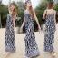 Brand Sevy Zebra Spaghetti Maxi Dress thumbnail 1