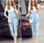 Lady Ribbon Korea dress LR06190516 &#x1F380 Lady Ribbon's Made &#x1F380 Lady Korea dress Sophie Smart Casual White Lace and Blue Jumpsuit thumbnail 1