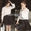 Lady Ribbon Dress LR10120516 &#x1F380 Lady Ribbon's Made &#x1F380 Lady Nicole Minimal Feminine Polka Dots Printed Ruffle Blouse Dress thumbnail 1