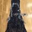 Lady Ribbon Korea LR10230516 &#x1F380 Lady Ribbon's Made &#x1F380 Lady Klara Colourful Mini Floral Embroidered Black Tulle Maxi Dress thumbnail 5