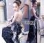 Lady Ribbon Korea LR10230516 &#x1F380 Lady Ribbon's Made &#x1F380 Lady Klara Colourful Mini Floral Embroidered Black Tulle Maxi Dress thumbnail 1