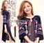 &#x1F380 Lady Ribbon's Made &#x1F380 Lady Lea Boho Colourful Flower Embroidered Midi Dress thumbnail 1