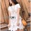 Lady Ribbon's Made &#x1F380 Lady Elizabeth Sweet Feminine Layered Mini Lace Dress in White thumbnail 7