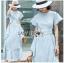 Chic Cotton Ruffle Lady Ribbon Dress thumbnail 1