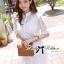 Lady Ribbon Korea LB14160516 &#x1F380 Lady Ribbon's Made &#x1F380 Lady Jennifer Sweet Button Down Organza Lace Dress thumbnail 4