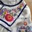 Lady Ribbon Korea Dressเสื้อผ้า LR08010816 &#x1F380 Lady Ribbon's Made &#x1F380 Lady Alexandria Country Feminine Flower Embroidered Button-Down Cotton Dress thumbnail 4